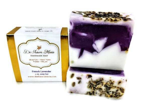 SOAP- French Lavender Soap - Vegan Soap - Handmade Soap - Real Lavender Soap- Soap Gift