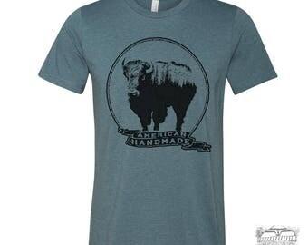 Men's BISON American Handmade  Unisex T Shirt [ xs s m l xl xxl xxxl ] + Colors