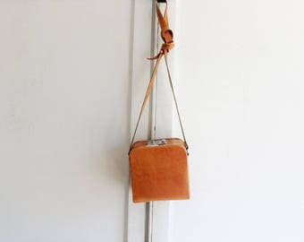 80s vintage leather box bag crossbody