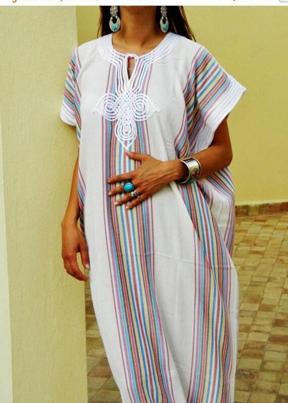 Autumn Dress 20% OFF/ Bedouin Style Resort Caftan Kaftan- White-Perfect as loungewear, as beachwear,cover ups,resortwear, Kaftan, maternity,