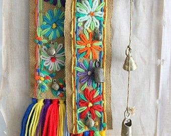 Vintage Decorative Door/Wall Bell Chimes, Bohemian Wall Decor