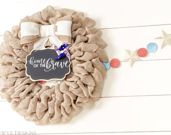 Patriotic wreath - Stars and Stripes - 4th of July wreath - patriotic decor - 4th of July decor - summer wreath - burlap patriotic wreath