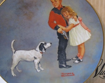 "Norman Rockwell Museum ""COURAGEOUS HERO""Plate Limited Edition"
