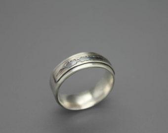 Sound Wave Ring, Sound Wave Jewelry, Soundwave Jewelry, Ring For Him, Men's Wedding Ring, Sound Wave Art, Custom Sound Wave, Soundwave