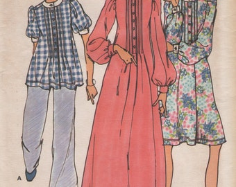 Vintage Betsey Johnson Alley Cat Tunic & Dresses, Womens Size 10 Uncut Sewing Pattern