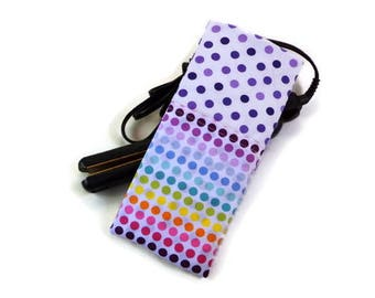 Purple and Multi Color Polka dots Travel Flat Iron Case, Curling Iron Case, Hot Iron Case