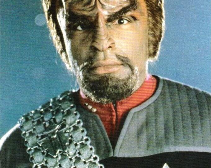 Vintage Postcard, Star Trek, Lieutenant Commander Worf, First Contact, 1996