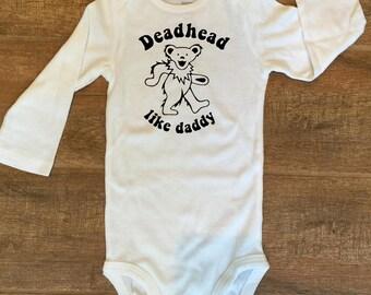 Grateful Dead Dancing Bear Deadhead like daddy Bodysuit