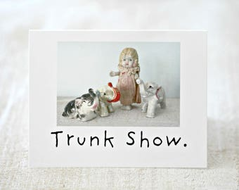 "Funny Elephant Card ""Trunk Show"" Adventures Claudia Porcelain Doll Stationary (1)"