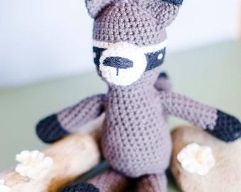 Raccoon Stuffed Animal - Crochet Raccoon Toy - Amigurumi Raccoon - Baby Gift