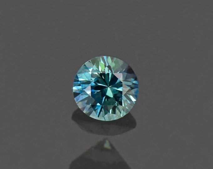 Excellent Blue Green Sapphire Round Gemstone from Montana 0.75 cts.