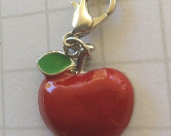 Apple Planner Charm, Apple planner accessories, fruit charm, stationery plannerclip, clip on planner supplies, planner charm