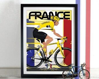 Tour De France Jerseys Bicycle Bike Cycling Poster Wall Art Print Home Décor Grand Tour
