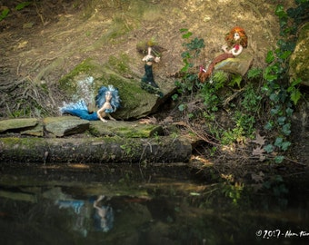 Home Decor Mermaid Sculpture  Maribelle Fiber Art