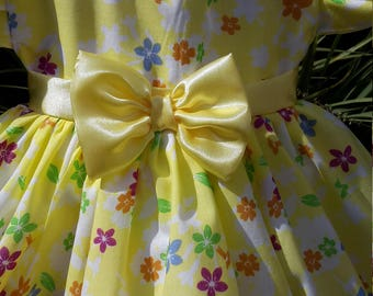 Yellow Floral Baby Dress Perfect for Summer.