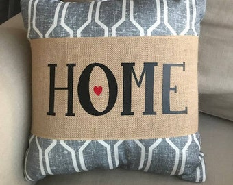 Home Burlap Pillow Wrap