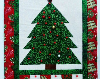 Christmas Advent Calendar, Quilted Christmas Tree Advent Calendar, Holiday Countdown Calendar, Scrap Quilt Advent Calendar