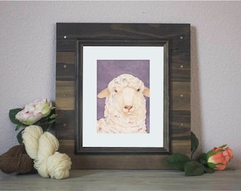 "Watercolor Art Print ""Rambouillet"" - Sheep"