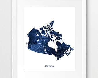Canada map etsy canada map print canada watercolor print canada wall art watercolor map canada navy gumiabroncs Images