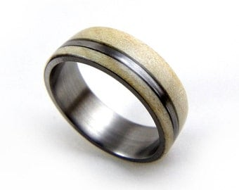 Maple Wood Ring, Made in America, Domestic Wood Ring, Titanium Wood Ring, Handmade Ring, Hard Rock Maple