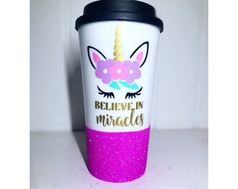 Unicorn Coffee Mug/ Believe In Miracles/ Team Unicorn/ Unicorn Party/ Unicorn Accessories/ Unicorn Party Decorations/ Stay Magical/