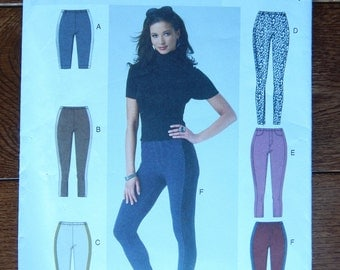 Leggings Sewing Pattern w/ Side Panels No side Seam/ Easy Butterick 5788/ Misses Size 8- 10- 12- 14- 16/ Close Fitting Tapered Leg/ Uncut