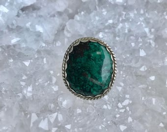 Turquoise Detailed Sterling Silver Ring 6.5
