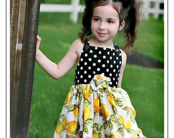 Boutique  Carolina Kids  Lots A Lemons Ruffle Dress 12 months