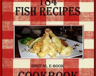 184 Delicious Fish Recipes E-Book Cookbook  Digital Download