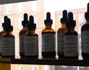 Tinctures, Oxymels, Glycerites! Nettles, Mugwort, Digestive Bitters, Moon + Flower, Dandelion, CA Poppy, Love, Time and Many MORE! Just Ask