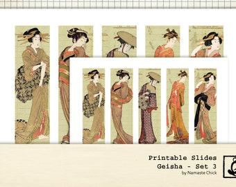 Geisha Printable Slides, Set 3