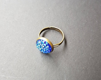 Mermaid Ring, Mermaid Jewelry, Statement Ring, Adjustable, Festival Jewelry, Blue Ring, Costume Jewelry