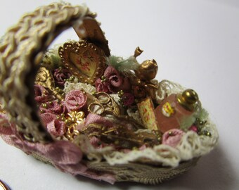 Basket for Dollhouse 1/12 scale
