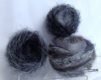 Vintage Yarn for Doll Making, Grey Hair Yarn Cakes, Doll Accessory Yarn for Fiber Art Knitting Crafting Destash Soft Yarn for Crafting Hobby