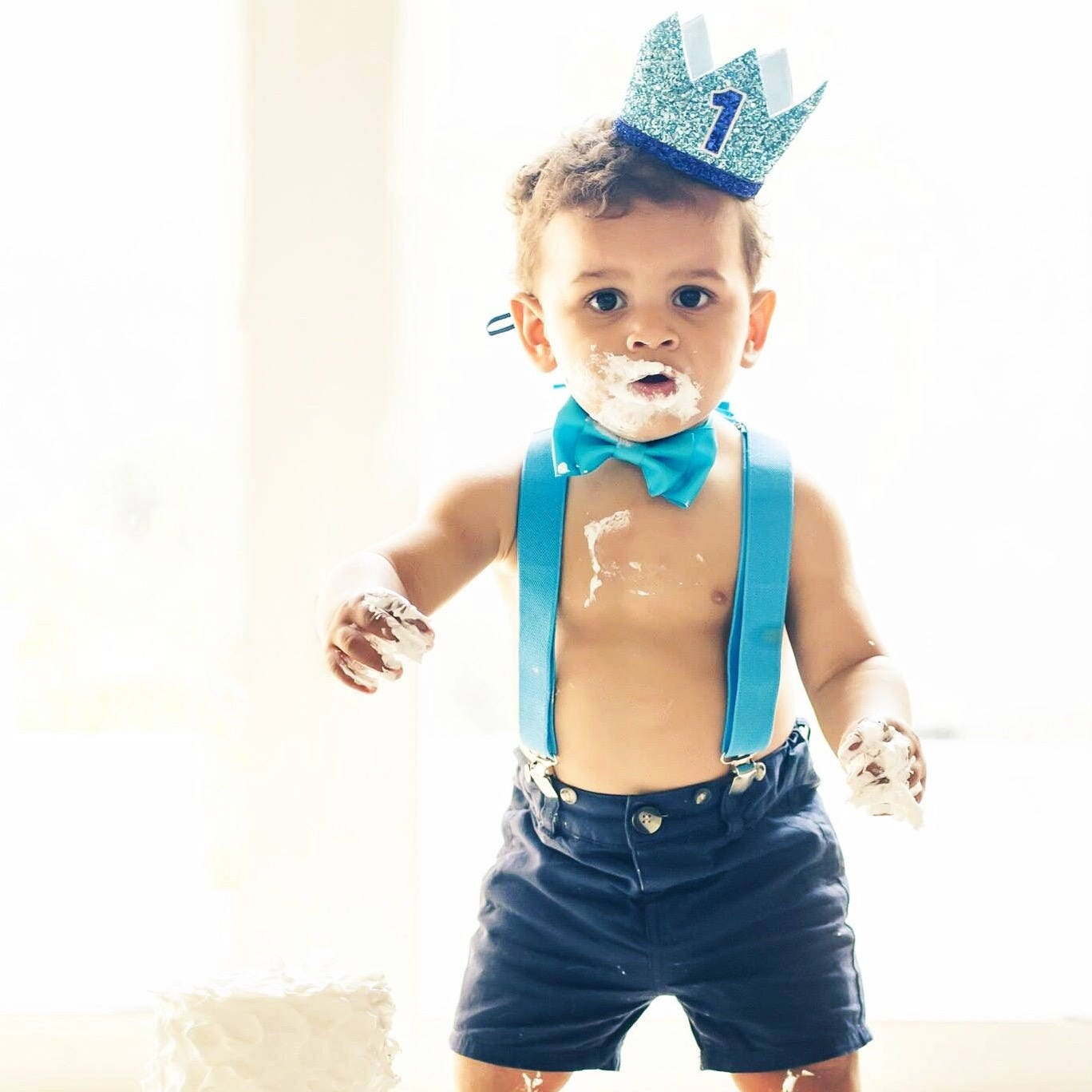 First Birthday Boy Boy Birthday Crown Boy Birthday: First Birthday Crown 1st Birthday Boy Outfit For Cake Smash
