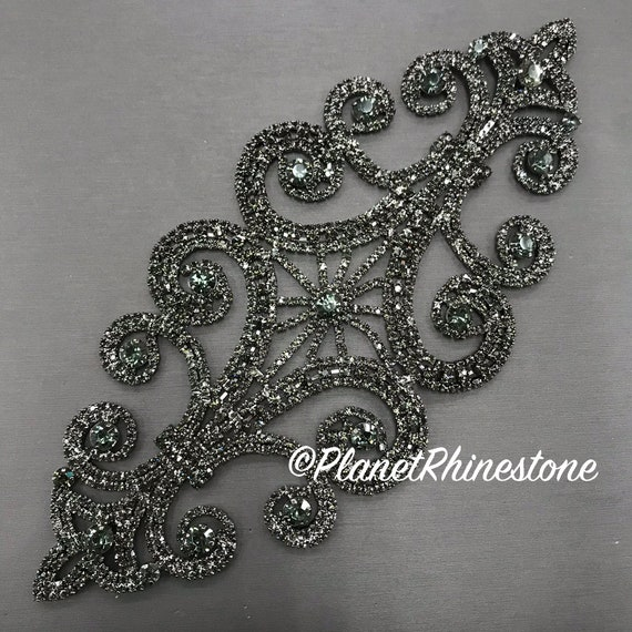 Black Rhinestone Applique #A-05