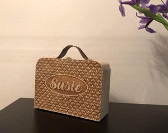 Personalised Wooden Suitcase - Keepsake Box