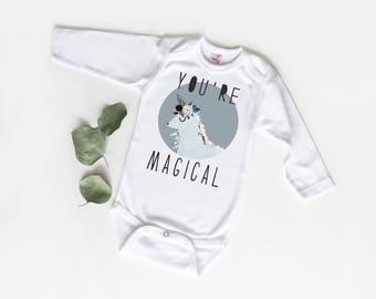 Unicorn Bodysuit, You're Magical, Baby Girl, Trendy Baby, Baby Shower Gift, Unicorn Baby Gift, New Baby, Unicorn Outfit, Baby Unicorn