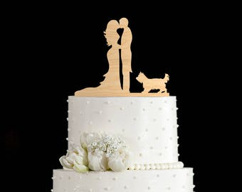 Yorkie wedding cake topper,yorkie wedding cake,Yorkshire terrier cake topper,Yorkshire terrier Wedding topper,terrier,yorkie art,6432017