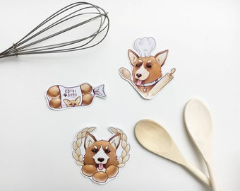 Corgi Bakery Sticker pack