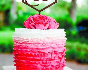 Geometric wedding cake topper gold Cake Topper Letter W Cake Toppers W letter Initials Cake Topper wood  Rustik Cake topper W R A Geometric