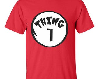 Thing 1 One Dr. Seuss Best Seller Designed Men Size Unisex T-Shirts for Men and Women