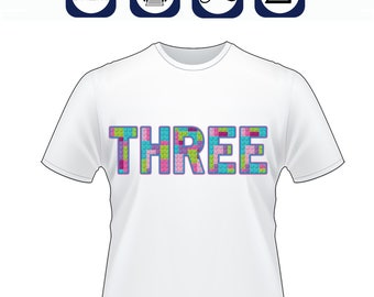 diy Building Blocks 3rd birthday shirt, Building Blocks birthday, Building Blocks Iron On Transfer, Print at Home