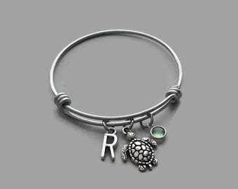Sea Turtle Charm Bracelet, Sea Turtle Bracelet, Turtle Bracelet, Turtle Charm, Beach Charm, Beach Bracelet, Beach Bangle, Sea Turtle Bangle