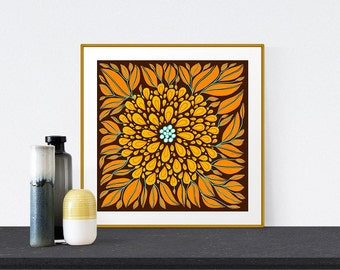 Illustration Print, Fine Art Print, Floral Print, Wall Art, Home Decor, Giclee Print, Birthday Gift for Her, Bedroom Decor, Flower Art