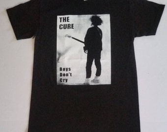 T h e  †Cure† - BOYS DON'T CRY- Black Unisex TShirt Sizes S-2XL