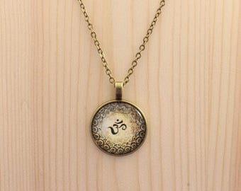 Ohm necklace / Om necklace / Namaste charm