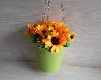 en venta sembradora de colgante metal lata jardinera colgar el pote de flor