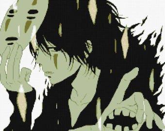 Kaonashi No Face Spirited Away - 220 x 220 stitches - Cross Stitch Pattern Pdf - INSTANT Download - B1027