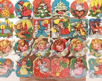 Vintage Quick and Easy Paper Scraps for Decoupage, Arts and Crafts. Christmas 3066